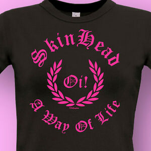 SKINHEAD-LADIES-T-SHIRT-A-Way-Of-Life-Oi-MoD-SkA-SCOOTER-amp-RUDE-GIRL
