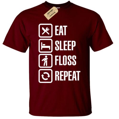 EAT SLEEP FLOSS REPEAT T-Shirt funny Mens dance battle flossing