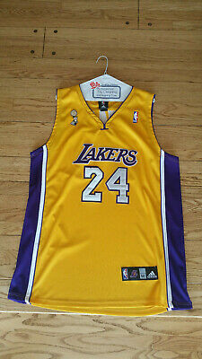 Kobe Bryant -- Adidas #24 Jersey 52 XXL -- Lakers NBA Finals Home ...