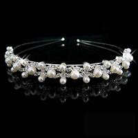 Bridal Bridesmaid Flower Girl Wedding Crystal Rhinestone Tiara Crown Headband