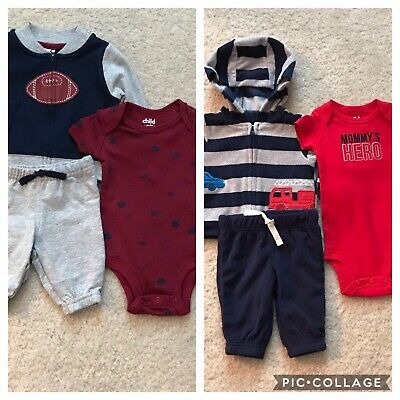 Child of Mine by Carter/'s  Short Sleeve T-Shirt and Pants Outfit Set, Bodysuit