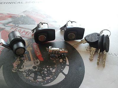 4 CHIAVI FIAT PANDA 85//104 COFANO KIT SERRATURE PORTE DX SX CILINDRETTO
