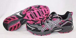 NEW Womens ASICS Gel Venture 4 T383N 7990 Charcoal Magenta Black Sneakers Shoes