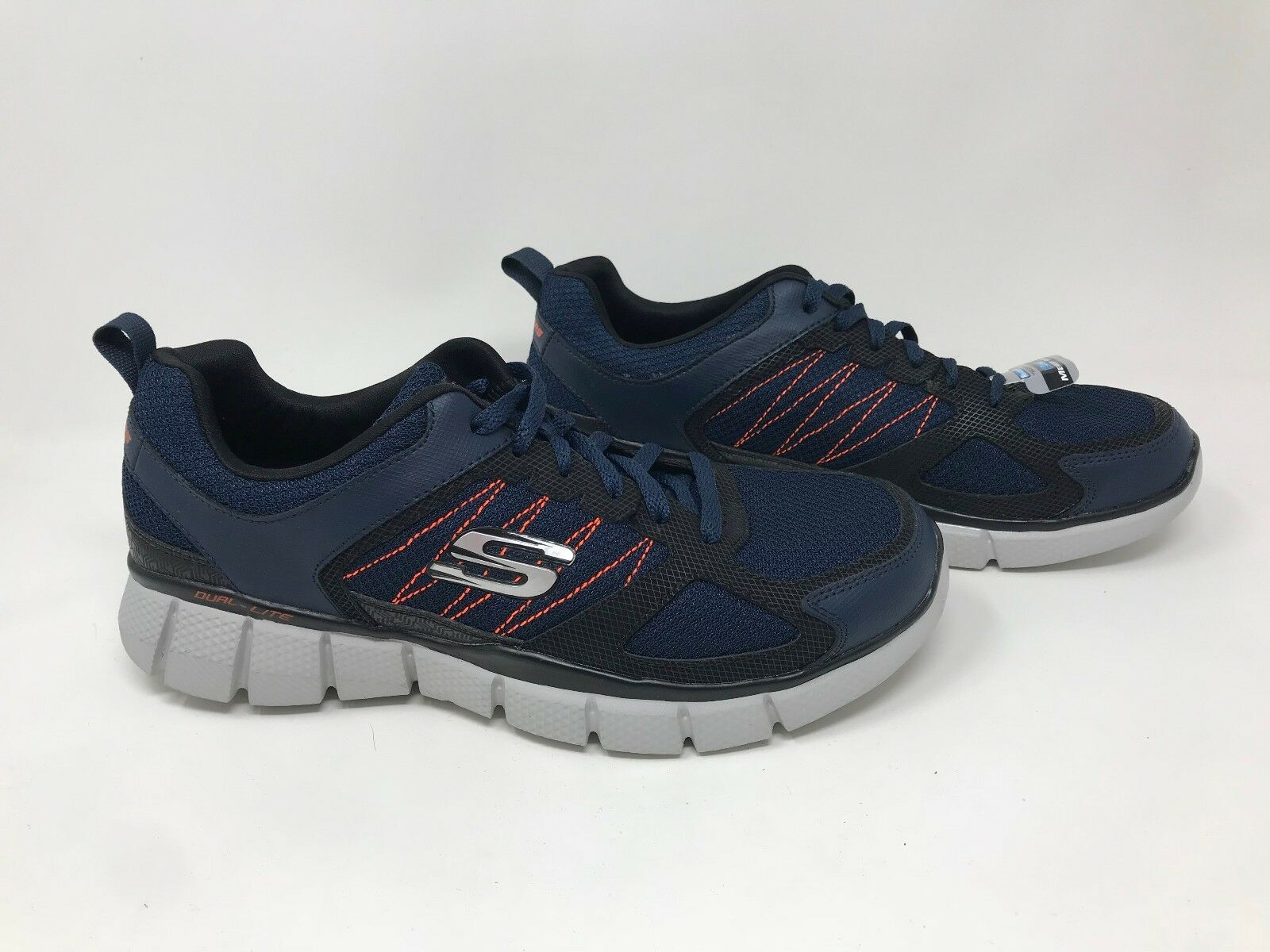 New  Men's Skechers 51532 Equalizer 2.0 On Track Athletic Sneaker -Navy bluee S42