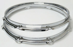 "Pearl 12/"" Steel Drum Hoop 6 Lug Triple Flange Chrome Drum Hoop for Tom or Snare"