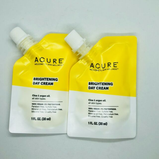 2 X ACURE Brightening Day Cream 1.0 Oz Travel Mini SEALED