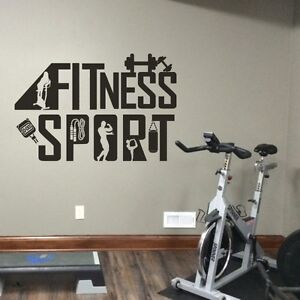 Gym wall art gym inspirational quote vinyl sticker wall art gym