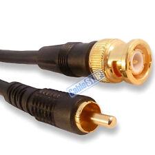 3 METRE BNC MALE PLUG TO RCA PHONO LEAD CCTV VIDEO CAMERA TV MONITOR CABLE 3m