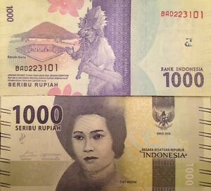 Image Is Loading Indonesia 2016 1000 Rupiah New Design Unc Banknote