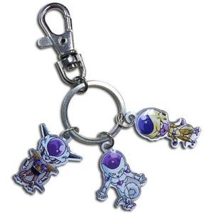 dragon ball super z sd armor golden frieza 3 forms metal keychain