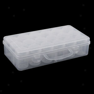 18x-Beads-Containers-Plastic-Round-Clear-Storage-Organizer-Box-Screw-Lid