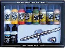 AV Vallejo 71167 Model Air Set Harder Steenbeck Airbrush & 10 Basic Colours
