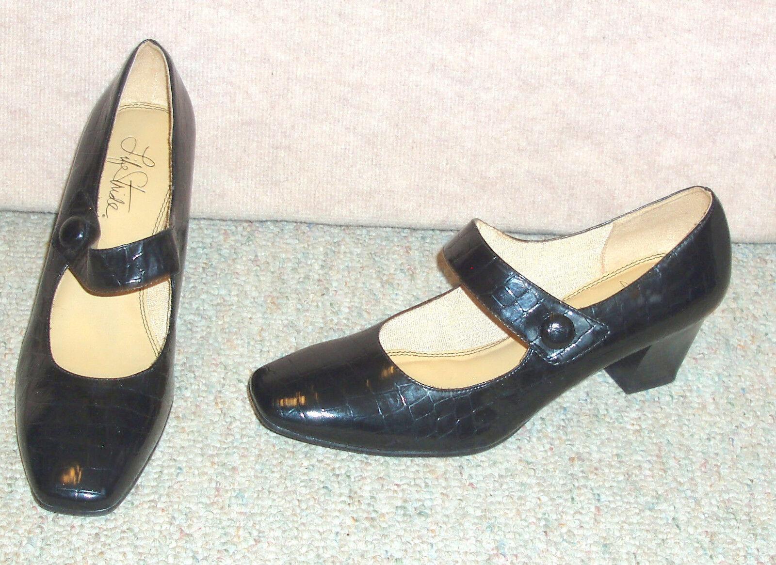 Women's black LIFE STRIDE Sindy Mary Janes   pumps / shoes  Janes / heels , sz 10 M 38045e