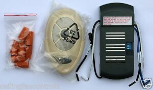 Universal Ceiling Fan Remote Kit For Cfl Amp Regular Lights