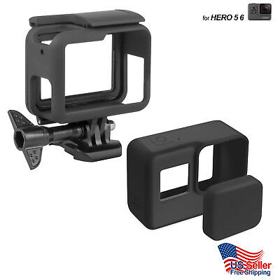 VKeyueDa for GoPro HERO5 Silicone Border Frame Mount Housing Protective Case Cover Shell VKeyueDa Black Color : Green