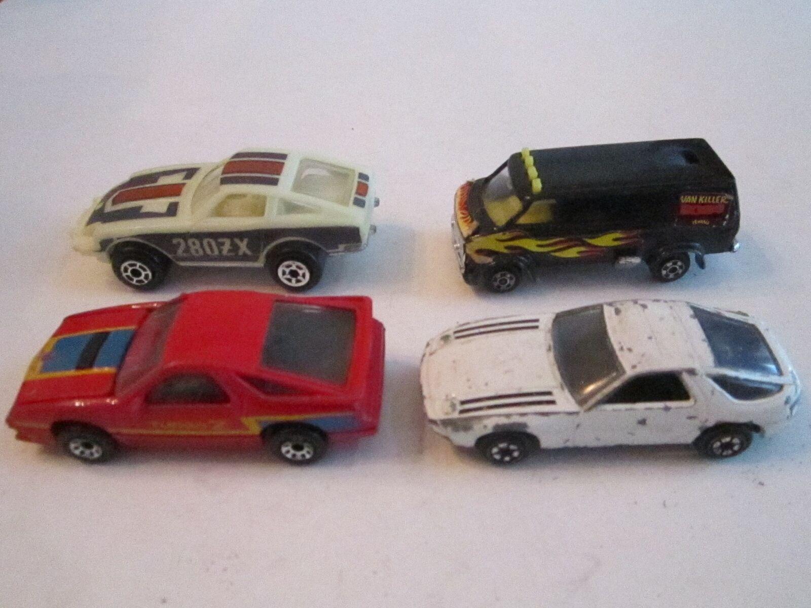 4 VINTAGE TOY CARS - ZYLMEX, '84 MATCHBOX & MORE - MB 1