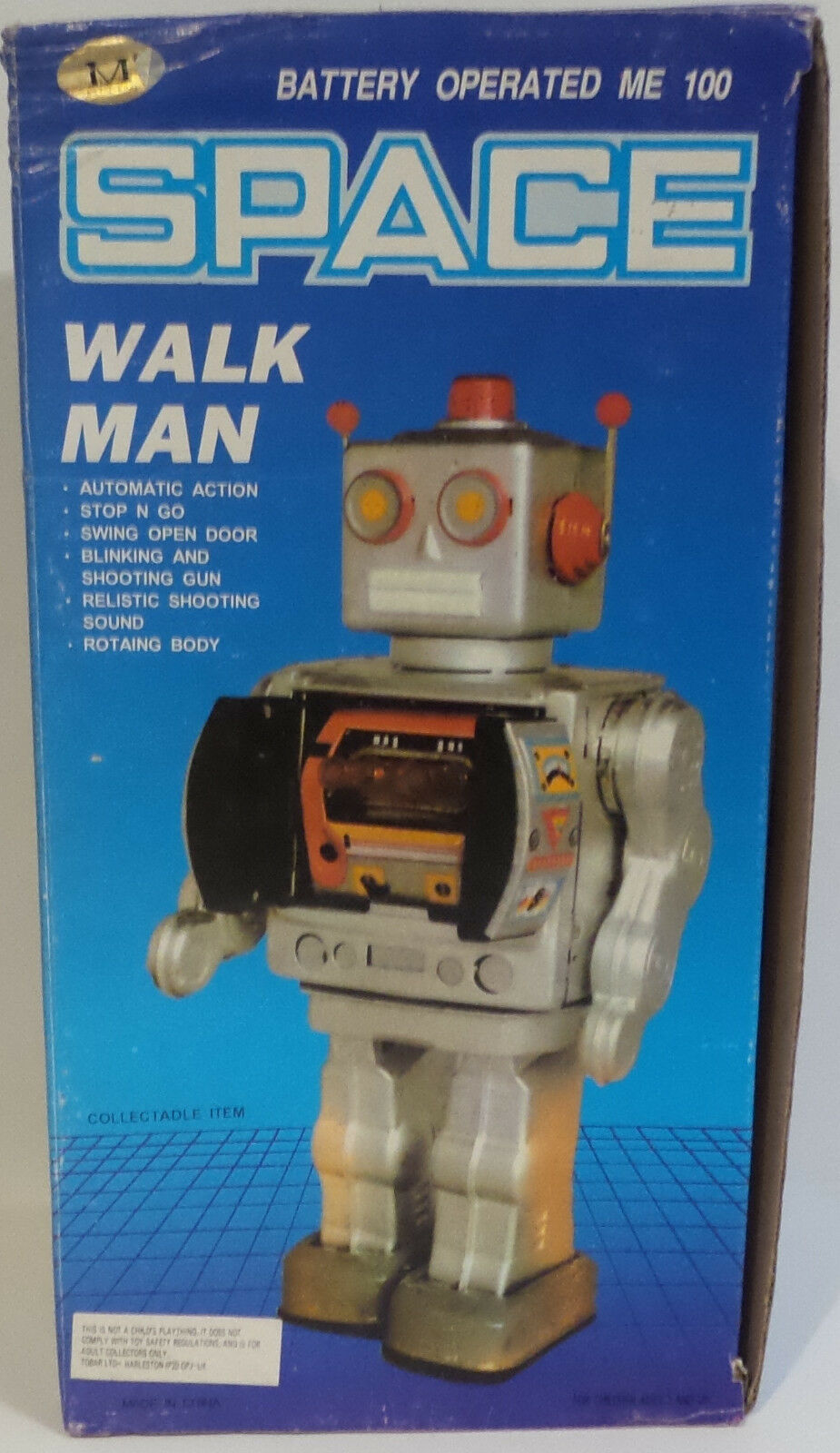 ROBOTS   BATTERY OPERATED SPACE WALK MAN MADE BY ME