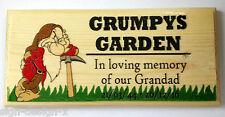 Personalised Grumpys Garden Memorial Plaque / Sign - In Loving Memory Date