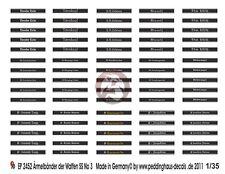 Cuff Titles in Sutterlin Script WWII 740 Peddinghaus 1//35 Waffen-SS Armbands