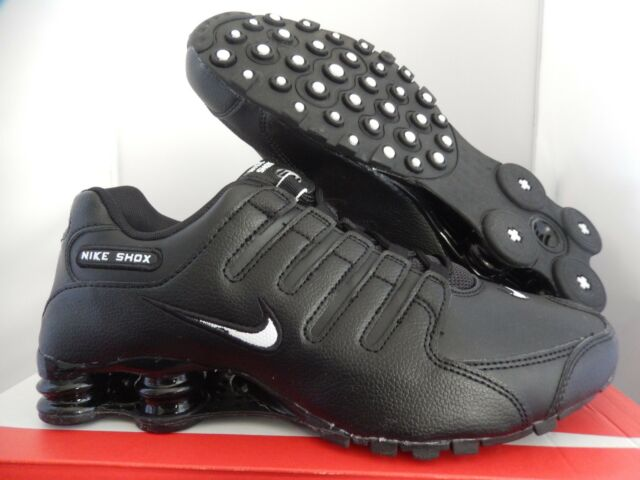 8e6e8961229 Nike Shox NZ EU Mens 501524-091 Leather Running Shoes Black Size 10  Thespot917