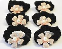 6 X Flower Ponytail Holder Flower Scrunchie Sosten Cola De Caballo Colita Pelo