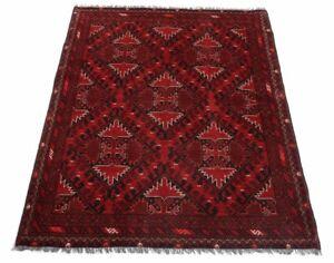 Afghan-Khal-Mohammadi-191-x-150-cm-Handgeknuepfter-Orientteppich-dunkel-rot