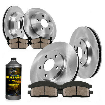 Rotors Ceramic Pads F+R OE Replacement 2005 BMW 325i//325Ci E46