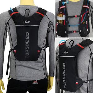 Détails sur Marathon Running Sport Cycling Vest Sac àdos Breathable Hydration Pack Water Bag