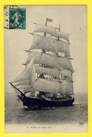 cpa FRANCE Cachet LE HAVRE 1911 Navire VOILIER NORVÉGIEN sailboat Norsk flagg