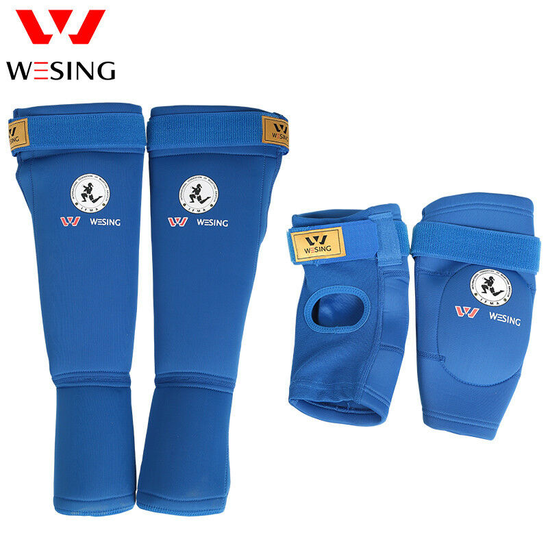 Wesing Muaythai Elbow guards with shin instep guards equipments IFMA approved
