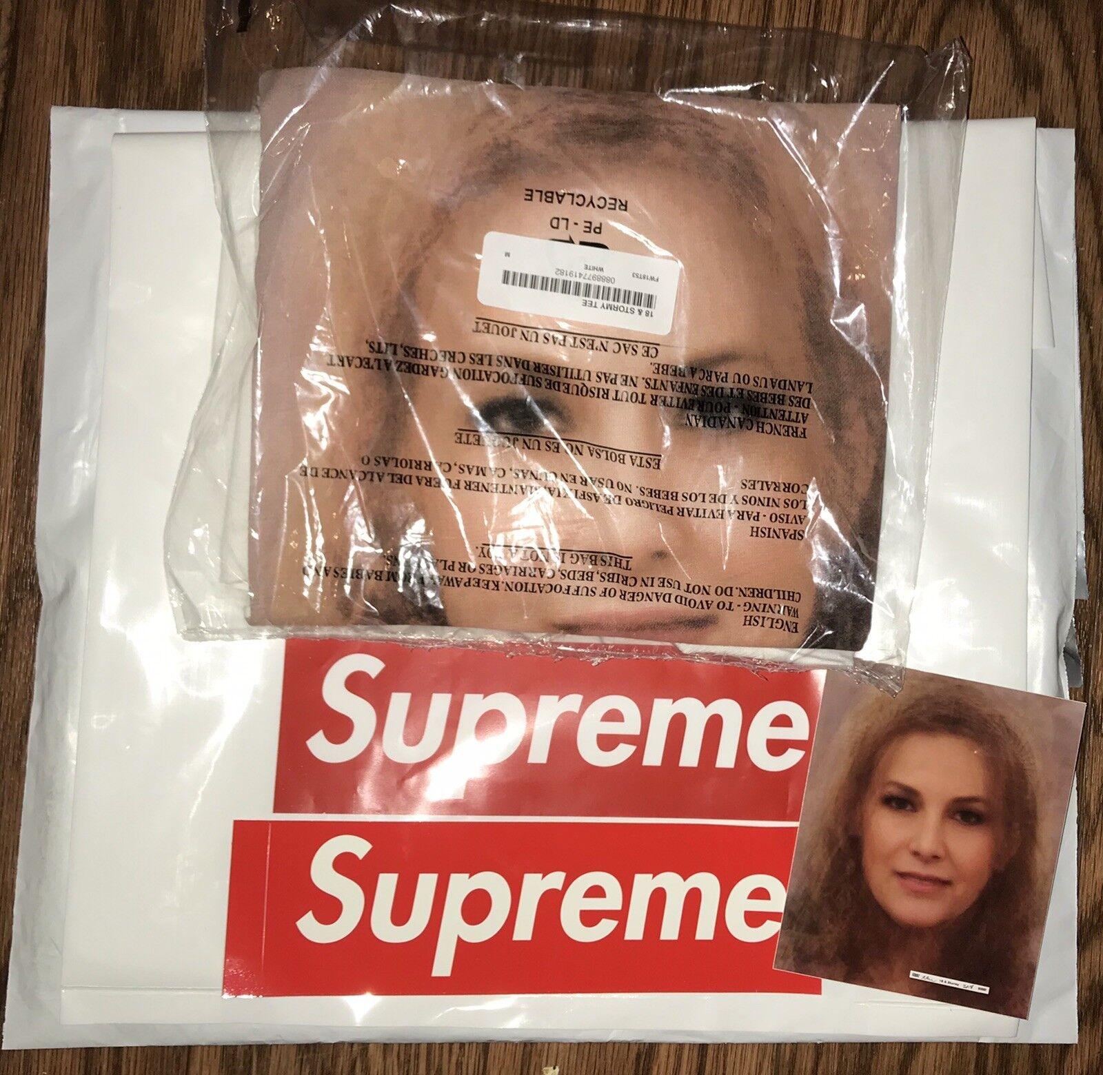 "Supreme ""18 & Stormy"" Tee Medium Shirt Weiß Richard Prince FW18 Conformed Order"