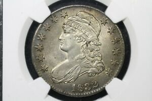 1832 Large Letters Capped Bust Half Dollar, O-101a, NGC AU-55 Nice!