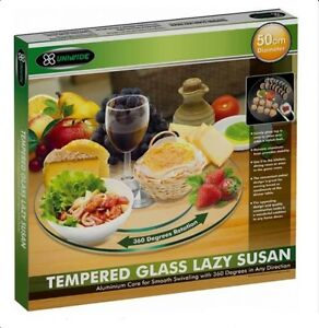Large-50cm-Lazy-Susan-Serving-Turntable-Tray-Plate-Tempered-Glass-Alumium-Base