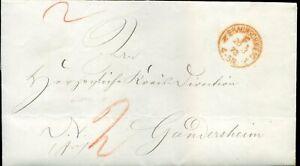 413858) Franco-cachet Rouge. K1 Braunschweig F. 1873, Botenlohn, N. Gandersheim-afficher Le Titre D'origine Fixation Des Prix En Fonction De La Qualité Des Produits