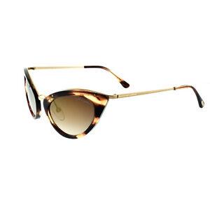 bd3578c0baee Tom Ford FT0349 47G Light Brown Women s Full Rim Cat Eye Sunglasses ...