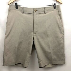 Jack-Nicklaus-Golf-Shorts-Mens-Beige-Flat-Front-Stretch-Athletic-New