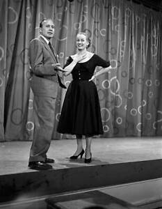 The Jack Benny Show 1950s withJack Benny, Faye Emerson OLD TV PHOTO 1