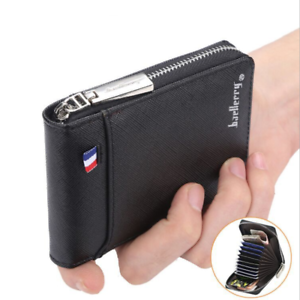 Mens-RFID-Blocking-Leather-Soft-Wallet-Credit-Card-Holder-Purse-With-Zip