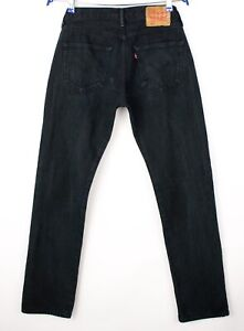Levi-039-s-Strauss-amp-Co-Hommes-501-Jeans-Jambe-Droite-Taille-W29-L32-AVZ887