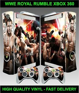 Details about XBOX 360 CONSOLE STICKER WWE ROYAL RUMBLE SKIN GRAPHICS & 2  CONTROLLER SKINS