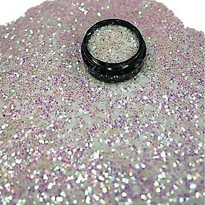 3ml Glitterpailetten 1mm in Acryl Dose, Weiß Irisierend, Nr. 802-015-a