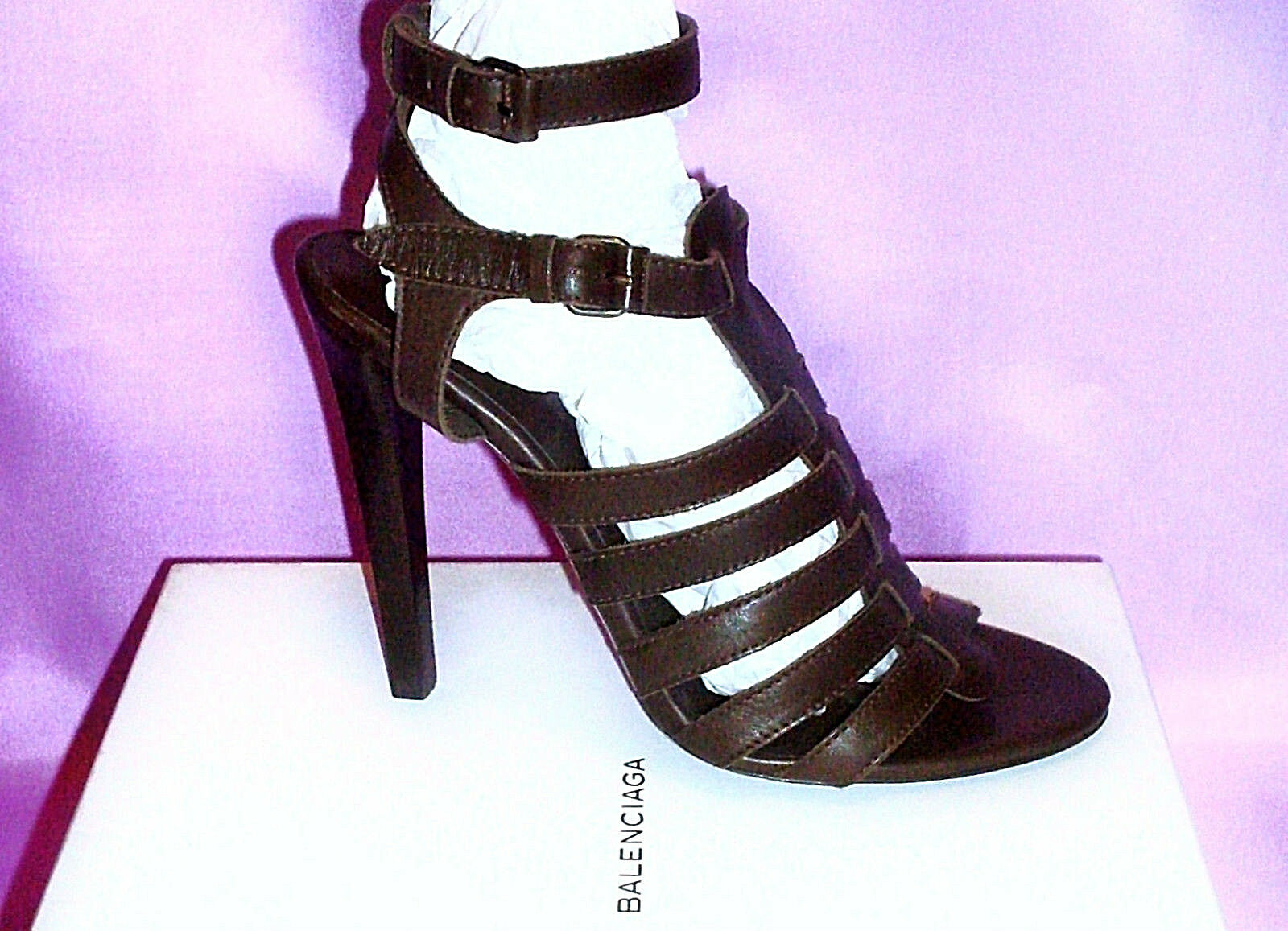BALENCIAGA ~ NEW Gladiator US: Heels ~ US: Gladiator 9 ; EUR: 39 - 39.5 * AUTHENTIC d8814e
