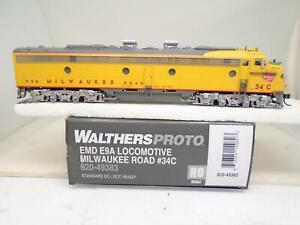 Walthers-Proto-Ho-920-49383-E-9A-Milwaukee-Road-34c-tj4