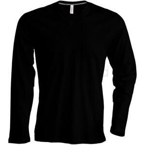 Kariban-Long-Sleeve-V-Neck-T-Shirt