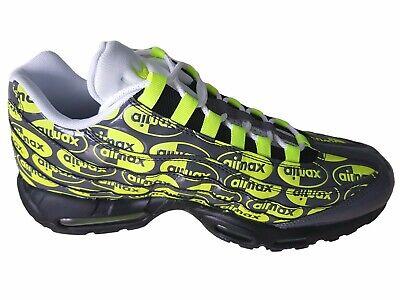 Nike Air Max 95 Prm Chaussures Hommes, NoirVolt FrêneBlanc, 538416 019 | eBay