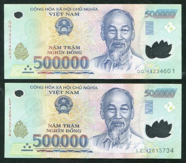 500000 Vietnam Money 1//2 Million 500,000 VIETNAMESE DONG CURRENCY UNC BANKNOTE