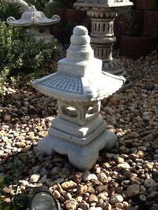 Feng Shui, Gartenfiguren, Skulpturen, Japan Lampe, Steinguss, 52 cm ...
