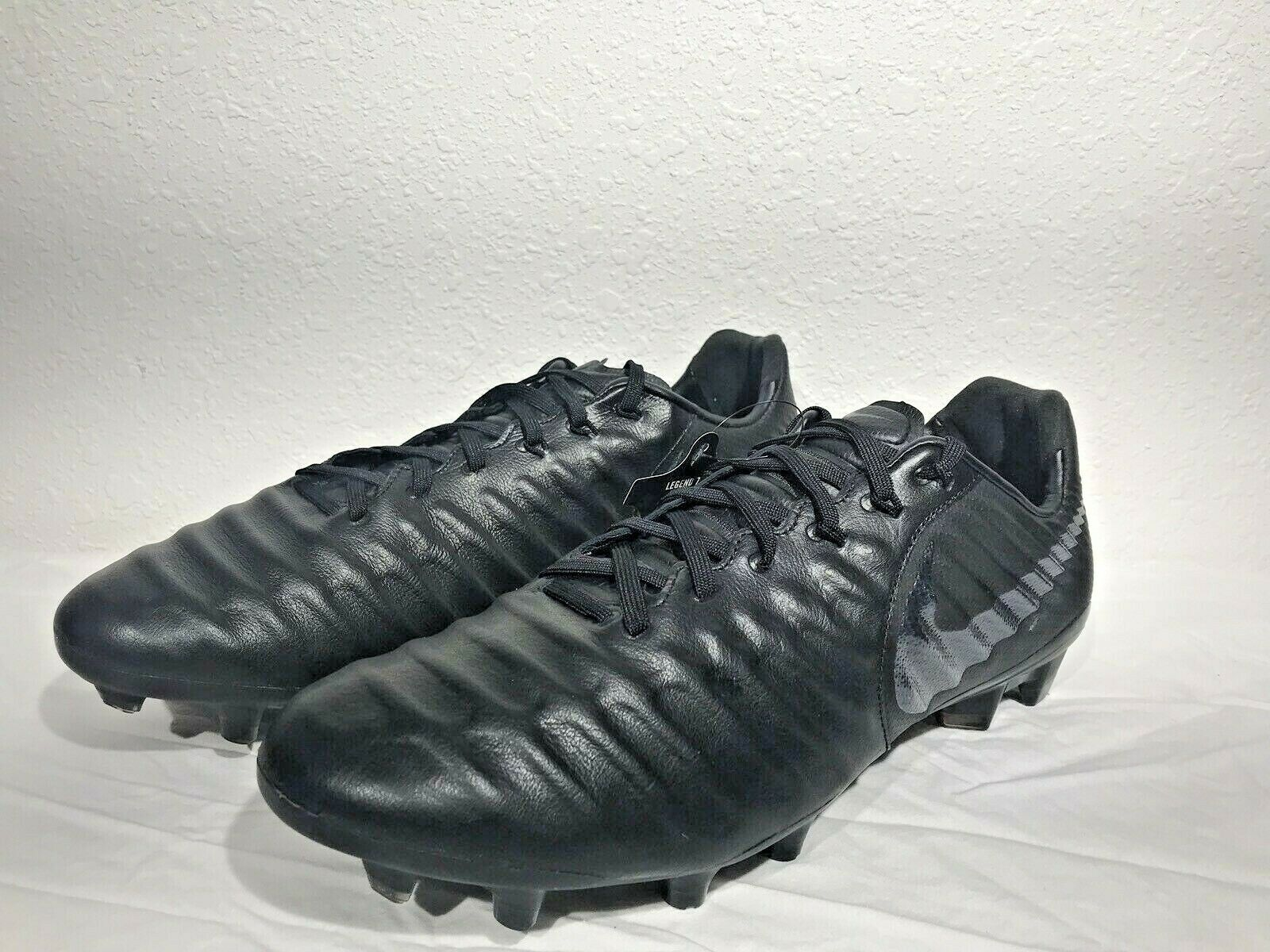 2571f5d1f Nike Tiempo Legend 7 Soccer Cleats Firm Ground Pro FG Black Ah7241 ...