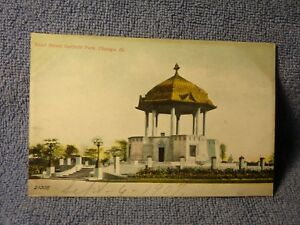 Details about Vintage Postcard Band Stand, Garfield Park, Chicago, Ill