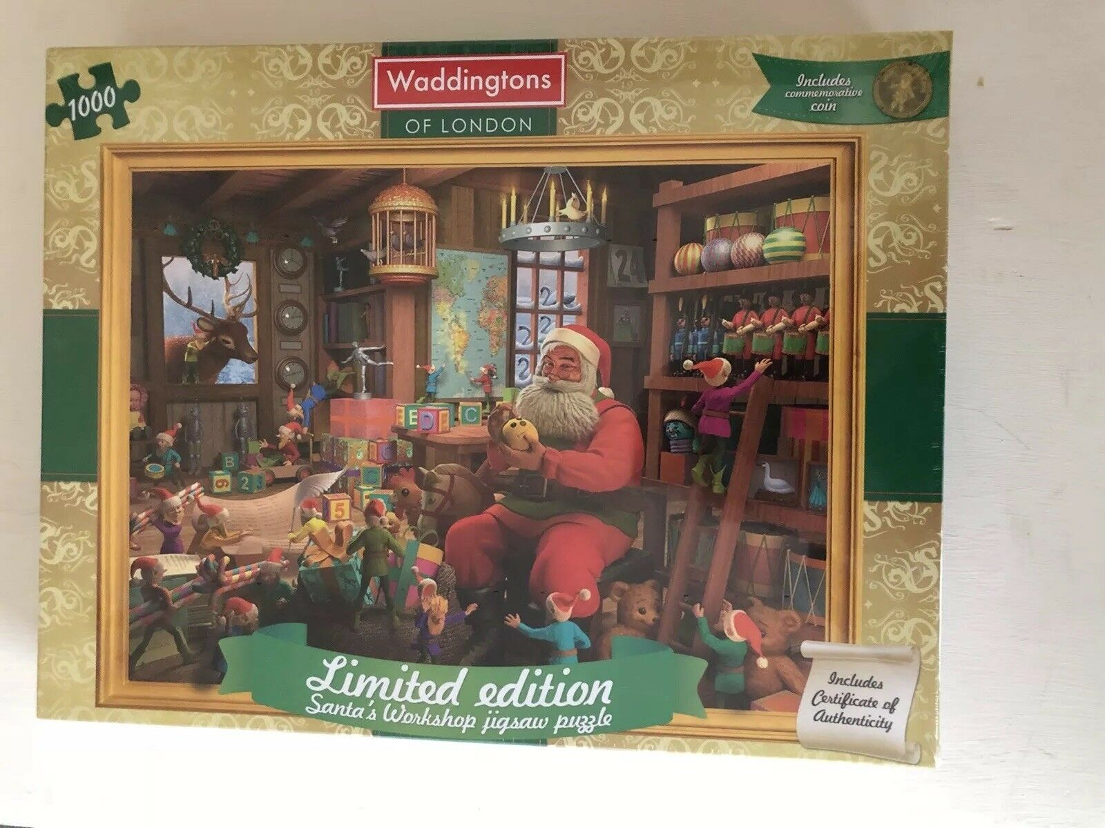 Waddingtons 2014 Santa's Workshop Limited Edition Christmas Puzzle 1000 Pieces